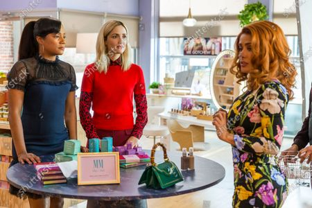 Tiffany Haddish as Mia Carter, Rose Byrne as Mel Paige and Salma Hayek as Claire Luna