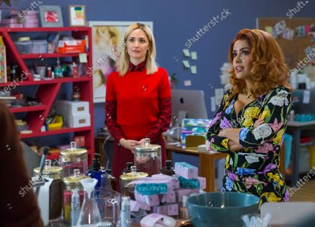 Rose Byrne as Mel Paige and Salma Hayek as Claire Luna