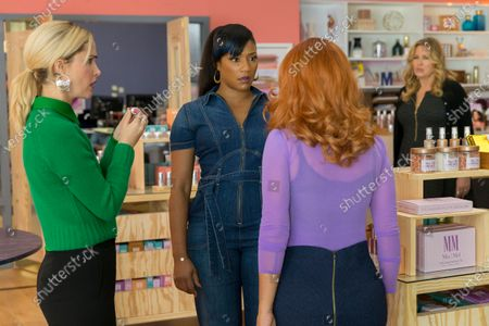 Rose Byrne as Mel Paige Tiffany Haddish as Mia Carter and Salma Hayek as Claire Luna