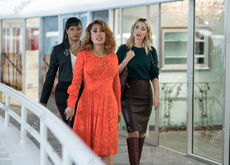 Tiffany Haddish as Mia Carter, Salma Hayek as Claire Luna and Rose Byrne as Mel Paige