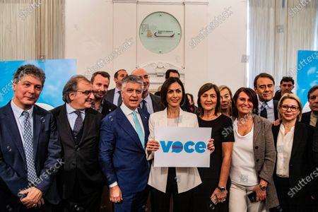 Mara Carfagna, Renata Polverini during the presentation of the cultural association 'Voce Libera'