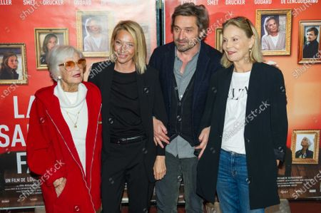 Stock Picture of Brigitte Aubert, Laura Smet, Louis-Do de Lencquesaing, Marthe Keller