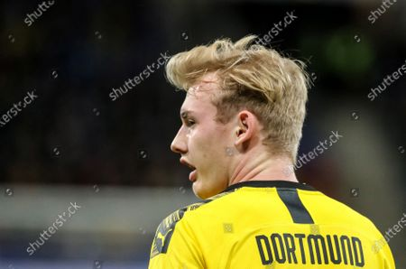 Dortmund's Julian Brandt reacts during the German Bundesliga soccer match between TSG 1899 Hoffenheim and Borussia Dortmund in Sinsheim, Germany, 20 December 2019.