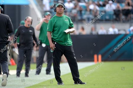 Stock Picture of New York Jets offensive assistant coach Hines Ward watches from the sideline during the second half of an NFL football game against the Jacksonville Jaguars in Jacksonville, Fla. Ward has been a popular guy this week ? and he has the voicemails, texts and emails to prove it. The Steelers are coming to town and the former Pittsburgh wide receiver has been hearing from friends and former colleagues who hope to catch up with the Jets' offensive assistant coach