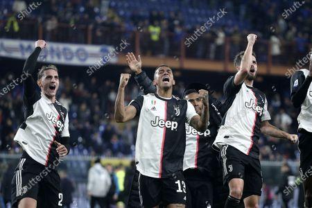 Danilo, Adrien Rabiot and Blaise Matuidi of Juventus