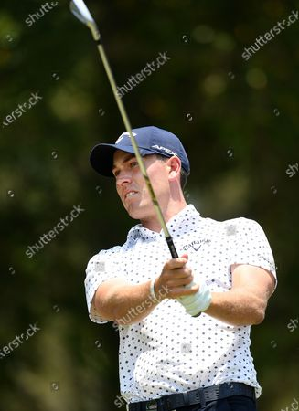Stock Photo of Australian golfer Anthony Quayle in action on day three of the 2019 Australian PGA Championship at the RACV Royal Pines Resort in Gold Coast, Australia, 21 December 2019.