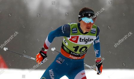 US Sophie Caldwell competes during the cross-country ski, men's (women's) World Cup sprint event, in Planica, Slovenia