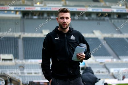 Stock Photo of Paul Dummett (#3) of Newcastle United arrives ahead of the Premier League match between Newcastle United and Crystal Palace at St. James's Park, Newcastle