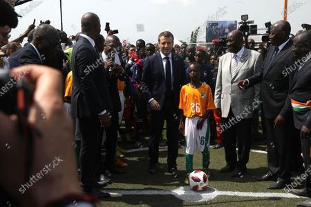 Editorial picture of French President Emmanuell Macron visits Abidjan, Ivory Coast - 21 Dec 2019