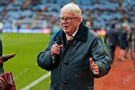 John Motson before the Premier League match between Aston Villa and Southampton at Villa Park, Birmingham
