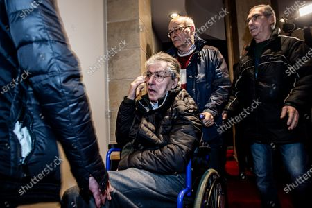 Stock Photo of Umberto Bossi during extraordinary congress of the League for the modification of the party statute