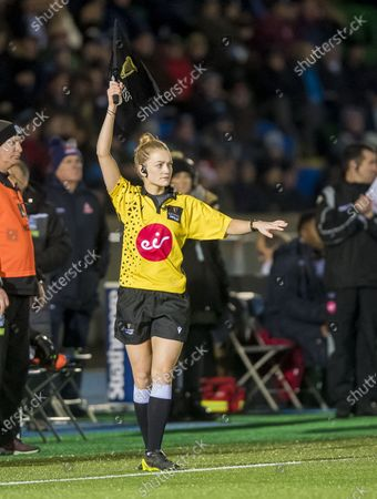 Stock Picture of Glasgow Warriors vs Edinburgh. Assistant referee Holly Davidson