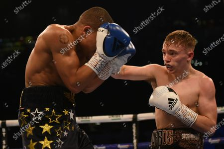 Sunny Edwards (black shorts) defeats Marcel Braithwaite during a Boxing Show at the Copper Box Arena on 21st December 2019