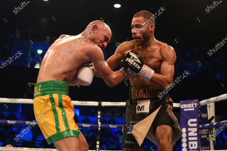 Troy Williamson (black shorts) defeats Dario Socci during a Boxing Show at the Copper Box Arena on 21st December 2019