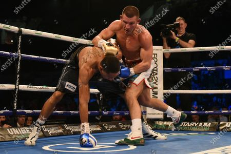Liam Williams (green shorts) defeats Alantez Fox during a Boxing Show at the Copper Box Arena on 21st December 2019