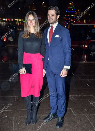 Princess Sofia of Sweden and Prince Carl Philip attended a Christmas concert in Gustav Vasa Church in Stockholm