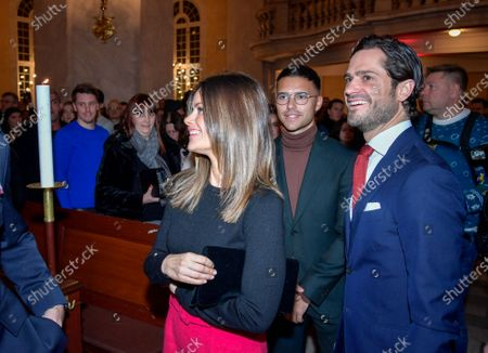 Stock Image of Princess Sofia of Sweden and Prince Carl Philip attended a Christmas concert in Gustav Vasa Church in Stockholm