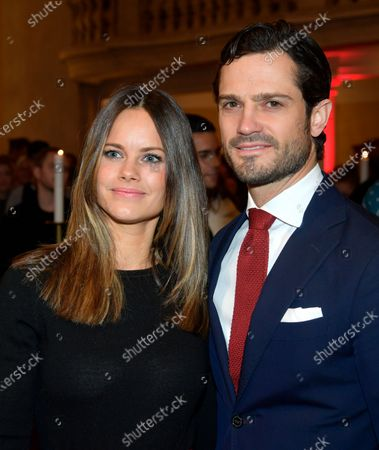 Stock Picture of Princess Sofia of Sweden and Prince Carl Philip attended a Christmas concert in Gustav Vasa Church in Stockholm
