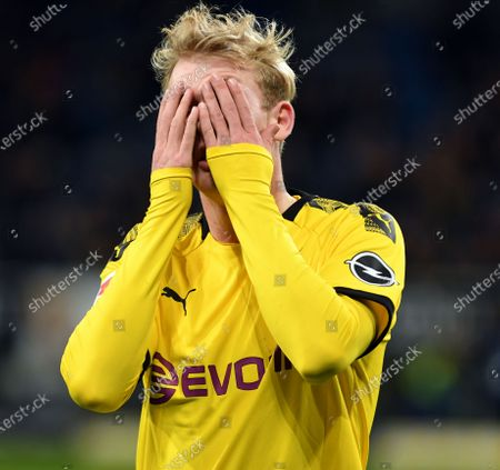 Editorial image of Julian Brandt  beim Fußball Bundesliga  Spiel TSG Hoffenheim  gegen Borussia Dortmund am  20.12.2019 in Hoffenheim.