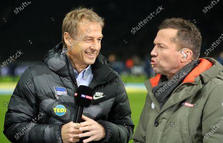 Trainer Juergen Klinsmann, Sky Experte Lothar Matthaeus / Interview Fernsehen / Sport / Football / DFL Bundesliga  /  2019/2020 / 21.12.2019 / Hertha BSC Berlin vs. Borussia Moenchengladbach BMG / DFL regulations prohibit any use of photographs as image sequences and/or quasi-video. /