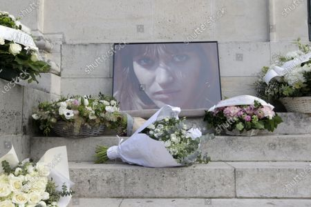 Funeral of Anna Karina at the East Chapel in the Pere Lachaise Cemetery, Paris.