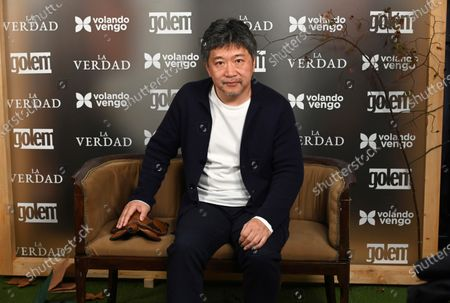 Hirokazu Koreeda, Cannes' Palm D'Or Award and Donostia Award 2018 winner, poses for photographers at his arrival at the red carpet for the preview of his latest film 'The Truth', in Madrid, Spain, 21 December 2019.