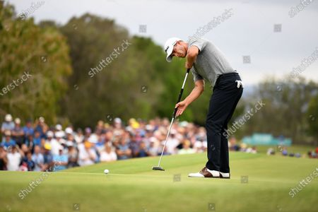 Australian golfer Adam Scott putts on the 18th before winning the 2019 Australian PGA Championship at the RACV Royal Pines Resort on the Gold Coast, Queensland, Australia, 22 December 2019.