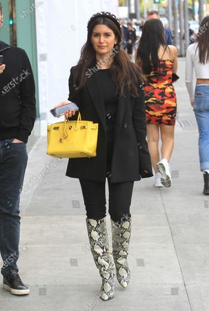 Editorial image of Roxy Sowlaty out and about, Los Angeles, USA - 21 Dec 2019