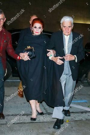 Editorial photo of Carole Cook and Tom Troupe out and about, Los Angeles, USA - 21 Dec 2019