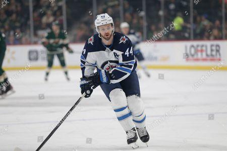Jets Wild Hockey. Winnipeg Jets' Josh Morrissey skates against the Minnesota Wild during an NHL hockey game, in St. Paul, Minn