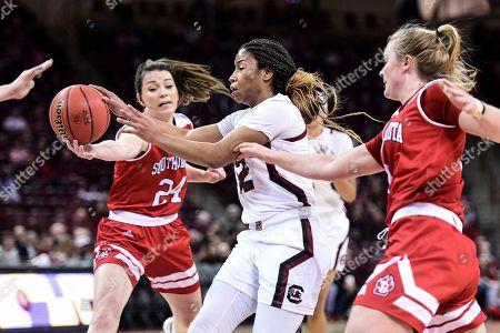 Editorial image of South Dakota South Carolina Basketball, Columbia, USA - 22 Dec 2019