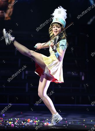 Editorial photo of Lindsey Stirling performs during the Warmer in the Winter Christmas Tour at The Broward Center, Fort Lauderdale, USA - 21 Dec 2019