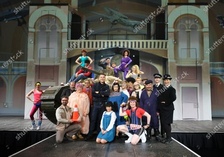 Stock Picture of Alice Haig as Miss Verity, Dermot Canavan as as Frank, Devarnie Lothian as Dazza, Grandpa's Great Escape Live, Jasmyn Banks as Shelley, John Marquez as Dad/ Barry, Kammy Darweish as Raj, Nigel Planer as Grandad, Niky Wardley as Patricia, Paul Putner as Nurse Blossom, Richard James as Nurse Rose, Siobhan Redmond as Miss Dandy/Reverend Fine and Tom Cawte as Grandson Jack