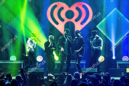 Zach Herron, Jack Avery, Jonah Marais, Corbyn Besson, Daniel Seavey. Zach Herron, from left, Jack Avery, Jonah Marais, Corbyn Besson, and Daniel Seavey of Why Don't We performs at Y100's Jingle Ball at BB&T Center, in Sunrise, Fla