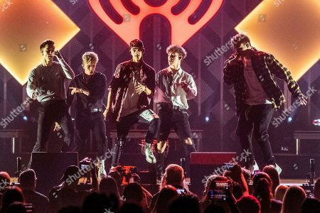 Daniel Seavey, Jack Avery, Corbyn Besson, Zach Herron, Jonah Marais. Daniel Seavey, from left, Jack Avery, Corbyn Besson, Zach Herron, and Jonah Marais of Why Don't We performs at Y100's Jingle Ball at BB&T Center, in Sunrise, Fla