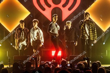 Corbyn Besson, Zach Herron, Daniel Seavey, Jack Avery, Jonah Marais. Corbyn Besson, from left, Zach Herron, Daniel Seavey, Jack Avery, and Jonah Marais of Why Don't We performs at Y100's Jingle Ball at BB&T Center, in Sunrise, Fla