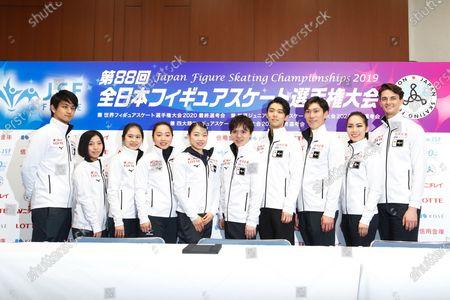 Riku Miura Ryuichi Kihara, Satoko Miyahara, Wakaba Higuchi, Rika Kihira, Shoma Uno, Yuzuru Hanyu, Keiji Tanaka, Misato Komatsubara and Tim Koleto