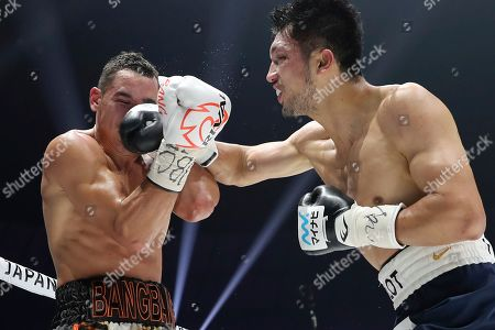 Ryota Murata, Steve Butler. Japanese champion Ryota Murata, right, sends a right to Canadian challenger Steve Butler in the third round of their WBA middleweight world boxing title match in Yokohama, southwest of Tokyo, . Murata defended his title by a technical knockout in the fifth round