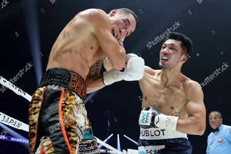 Ryota Murata, Steve Butler. Japanese champion Ryota Murata, right, sends a right to Canadian challenger Steve Butler in the fourth round of their WBA middleweight world boxing title match in Yokohama, southwest of Tokyo, . Murata defended his title by a technical knockout in the fifth round