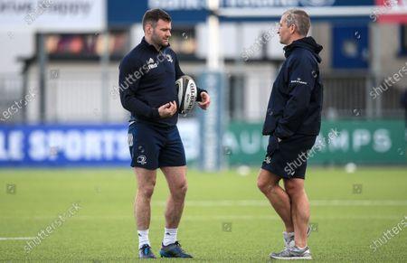 Fergus McFadden and Senior Coach Stuart Lancaster
