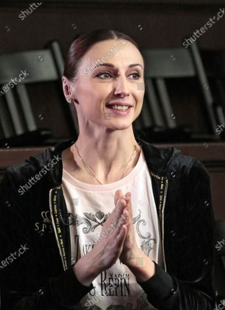 Prima ballerina of Bolshoi Theatre Svetlana Zakharova before the open rehearsal of the joint program on the upper stage of Bolshoi Theatre.