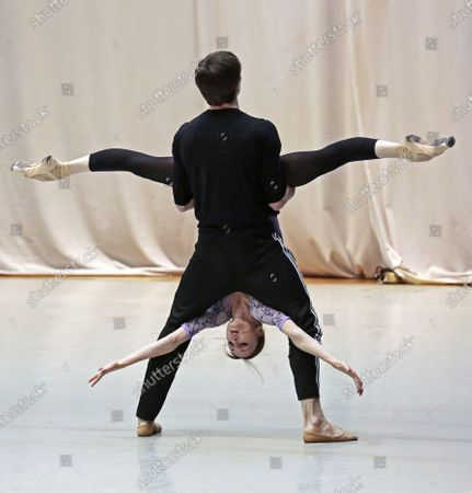 Editorial picture of 'Pas de Deux for Toes and Fingers' ballet performance, Moscow, Russia - 20 Dec 2019