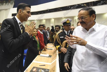 Vice President M Venkaiah Naidu meets Akshay Kumar