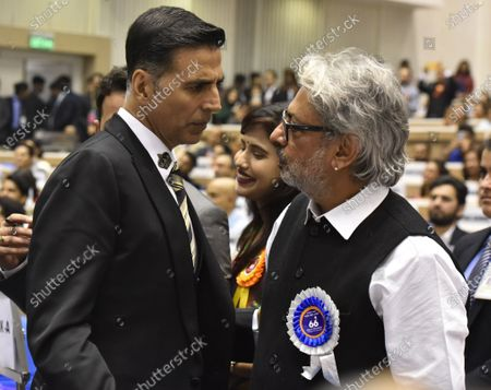 Actor Akshay Kumar meets Sanjay Leela Bhansal