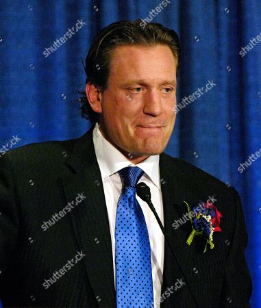 Shows Jeremy Roenick speaking during induction ceremonies for the U.S. Hockey Hall of Fame in Buffalo, N.Y. NBC Sports has suspended former NHL player Jeremy Roenick indefinitely for making inappropriate comments about co-workers. The network announced the suspension