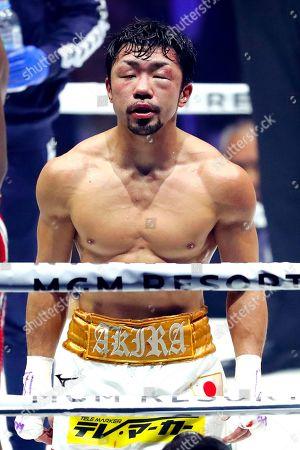 Akira Yaegashi after the bout