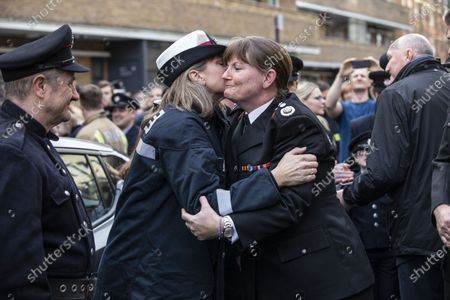Firefighters hold a 'Guard of Honour' for outgoing LFB commissioner Dany Cotton, who quit in the aftermath of the Grenfell Fire report.