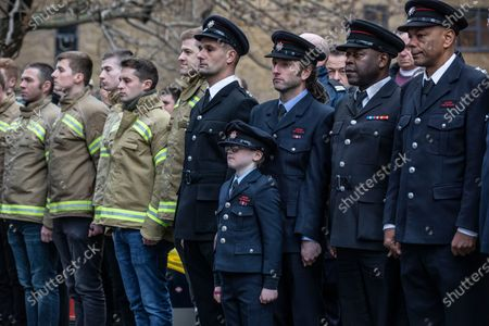 Stock Image of Firefighters hold a 'Guard of Honour' for outgoing LFB commissioner Dany Cotton, who quit in the aftermath of the Grenfell Fire report.