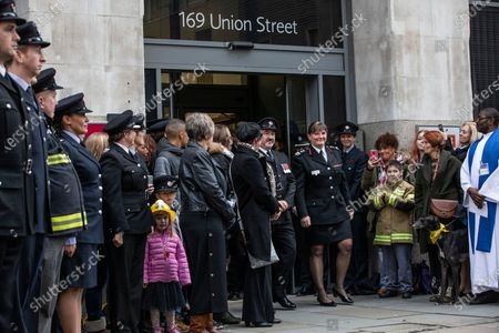 Editorial image of Guard-of-honour for London Firebrigade commissioner Dany Cotton, London, UK - 23 Dec 2019
