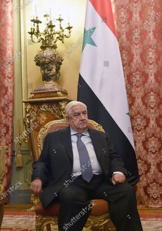 Minister of Foreign Affairs of Syria Walid Muallem during the meeting with Minister of Foreign Affairs of Russia Sergey Lavrov in the Reception House of the Russian Ministry of Foreign Affairs.
